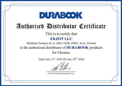 Distributor Certificate_EKZOT LLC_Ukraine